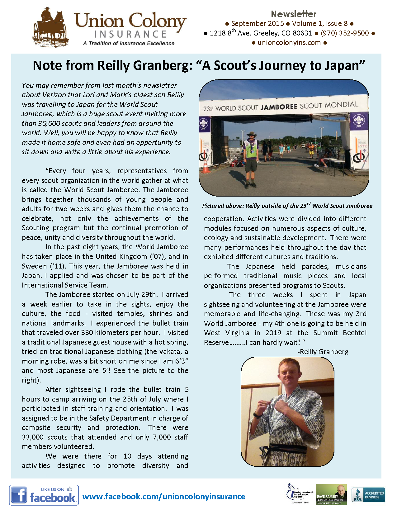 The Union Bulletin - September 2015 Page 1